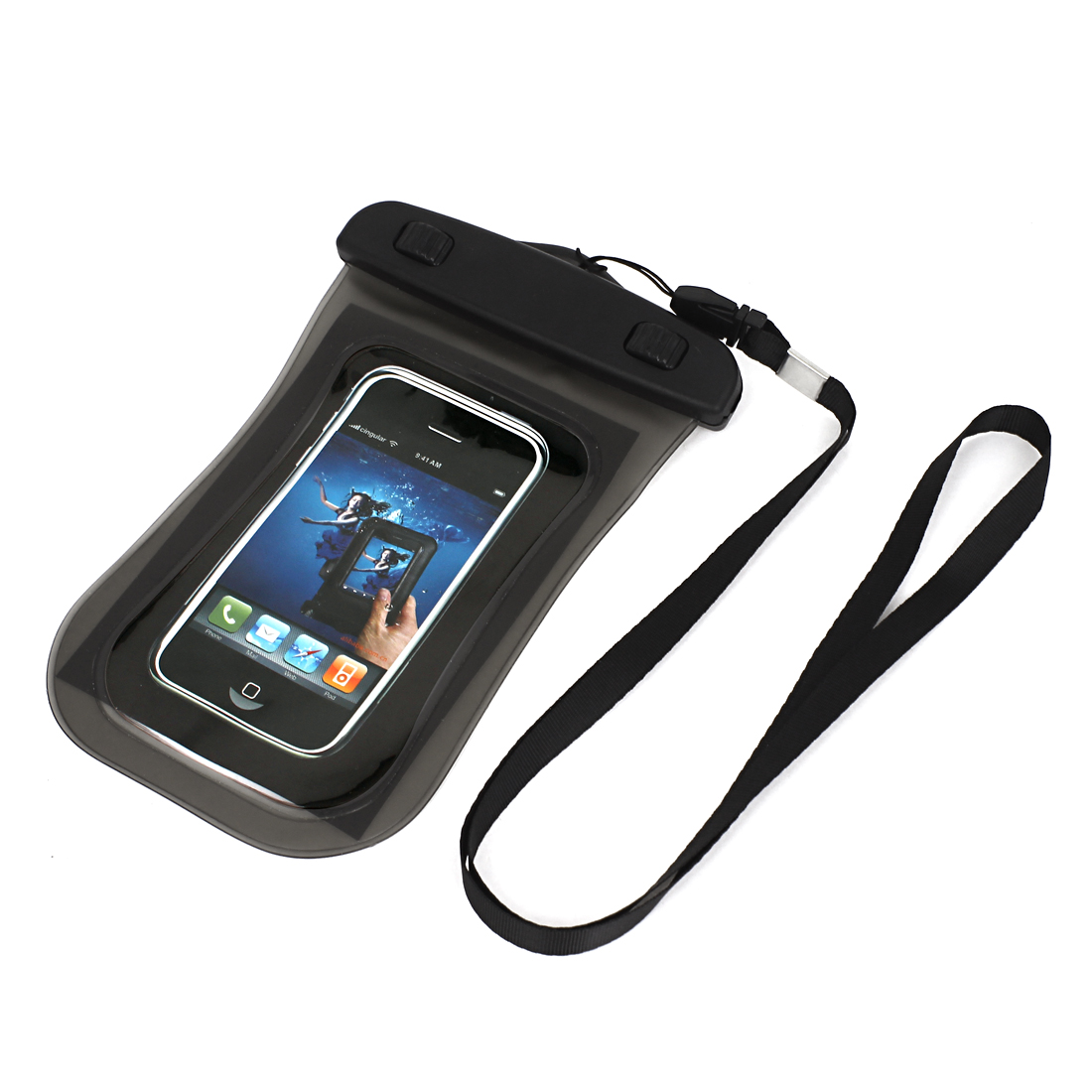 Transparent Waterproof Case Dry Bag Protective Cover Pouch Gray for Cell Phone