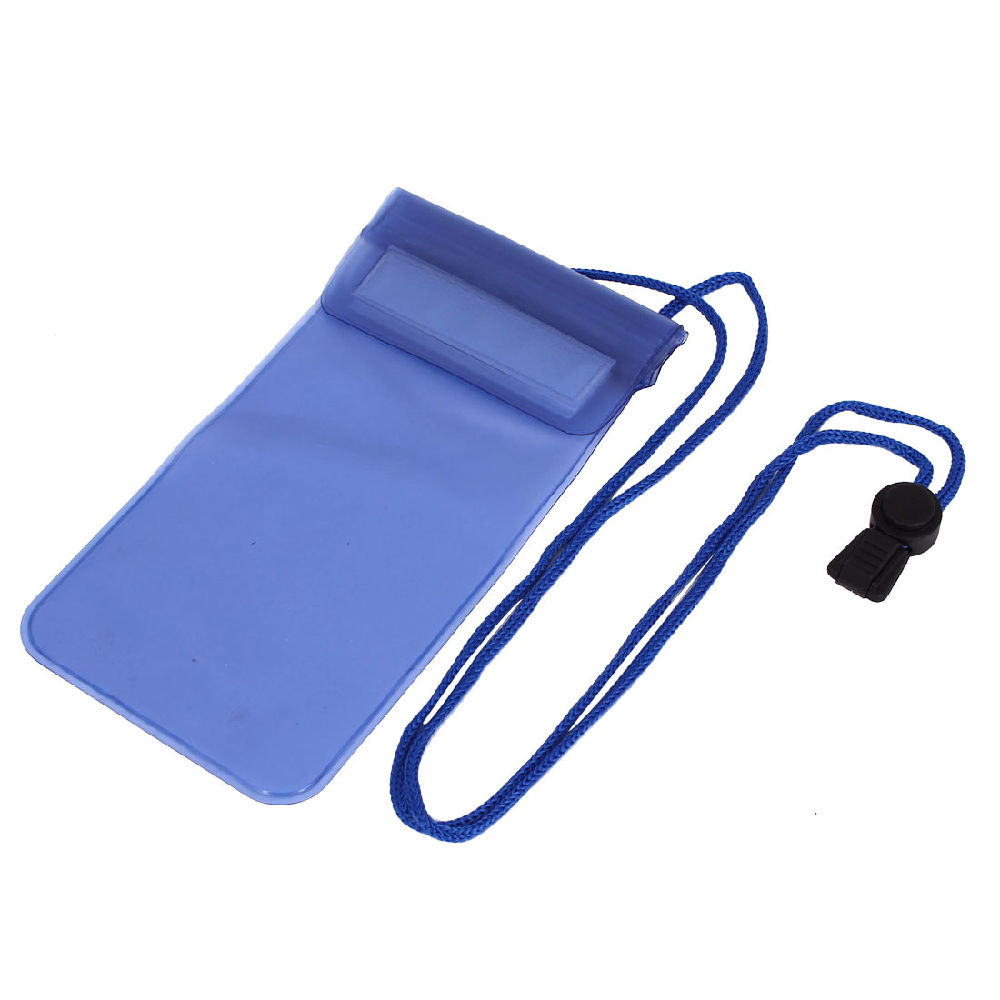 "Transparent Waterproof Dry Bag Case Cover Pouch Holder Blue for 5.5"" Cell Phone"