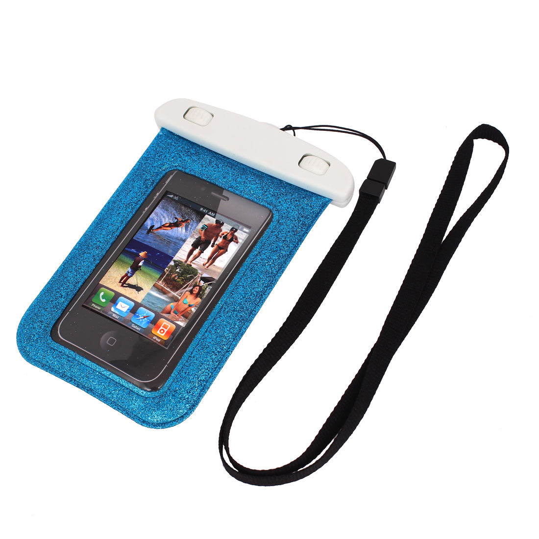 "Blink Waterproof Case Dry Bag Cover Protector Pouch Blue for 4"" Cell Phone"