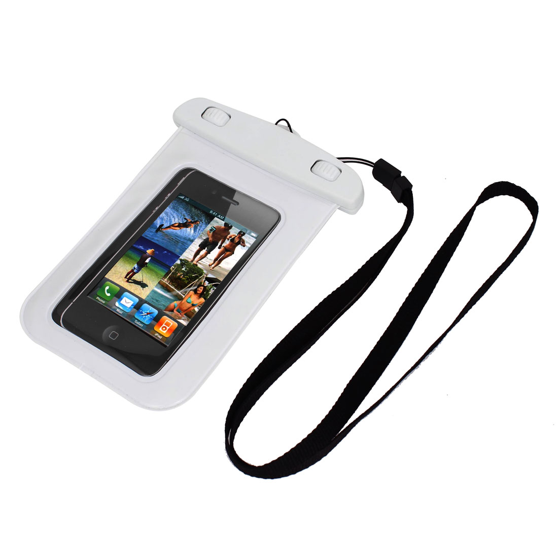 "Underwater Waterproof Case Dry Bag Cover Pouch White for 4"" Cell Phone"