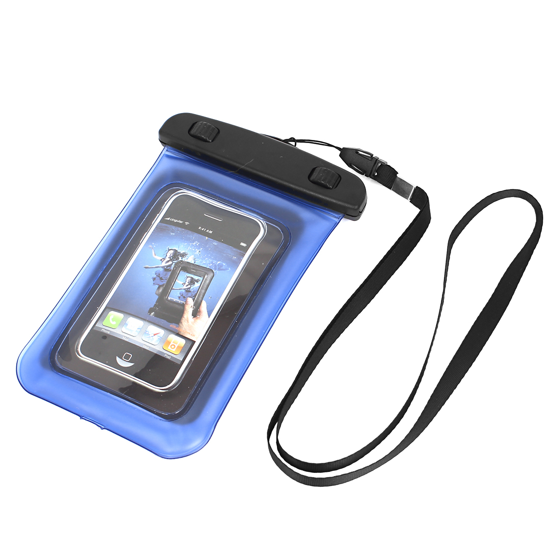 """Transparent Guard Pouch Waterproof Bag Dry Cover Case Blue for 4"""" Mobile Phone"""