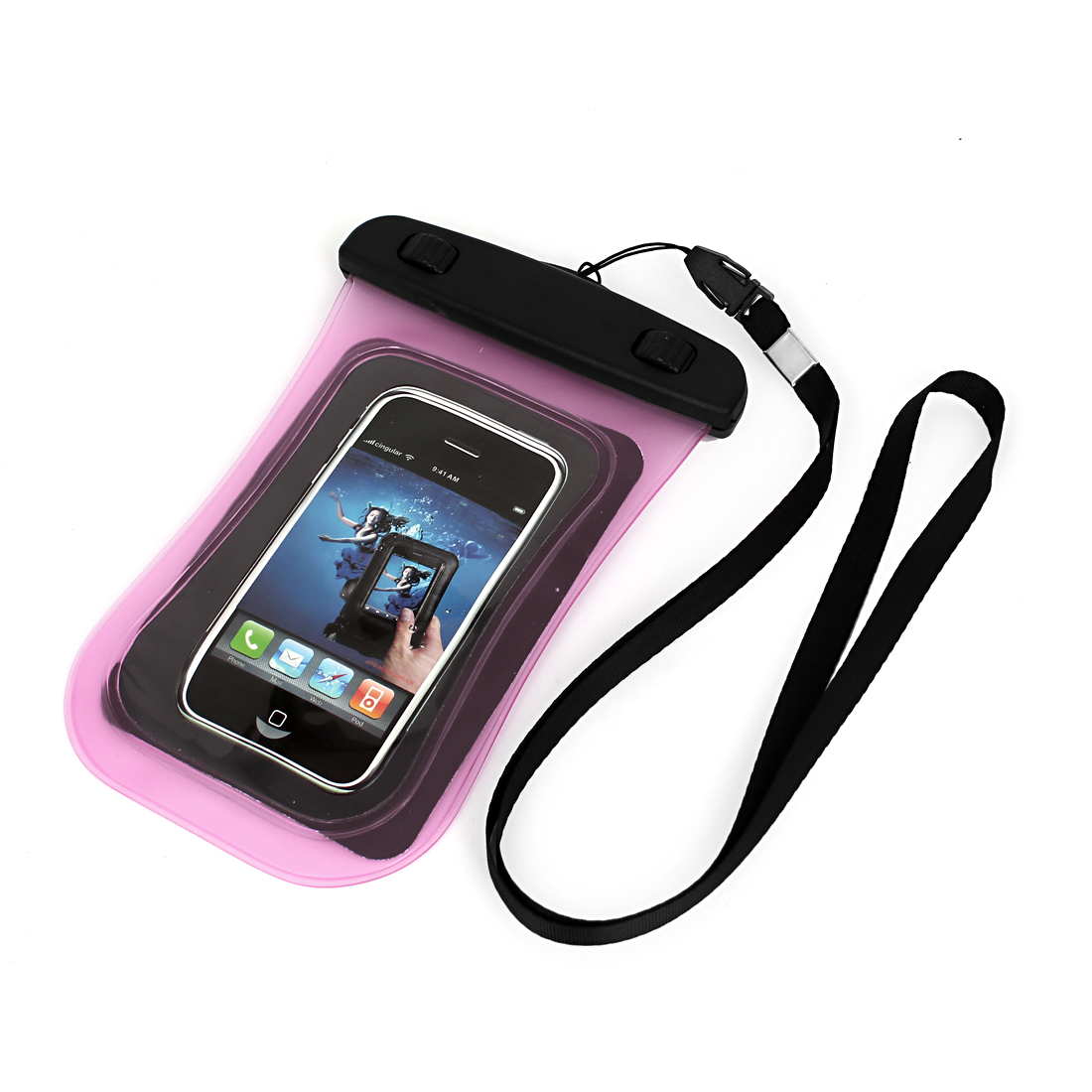 "Universal Waterproof Case Dry Bag Protective Cover Pouch Pink for 4"" Cell Phone"