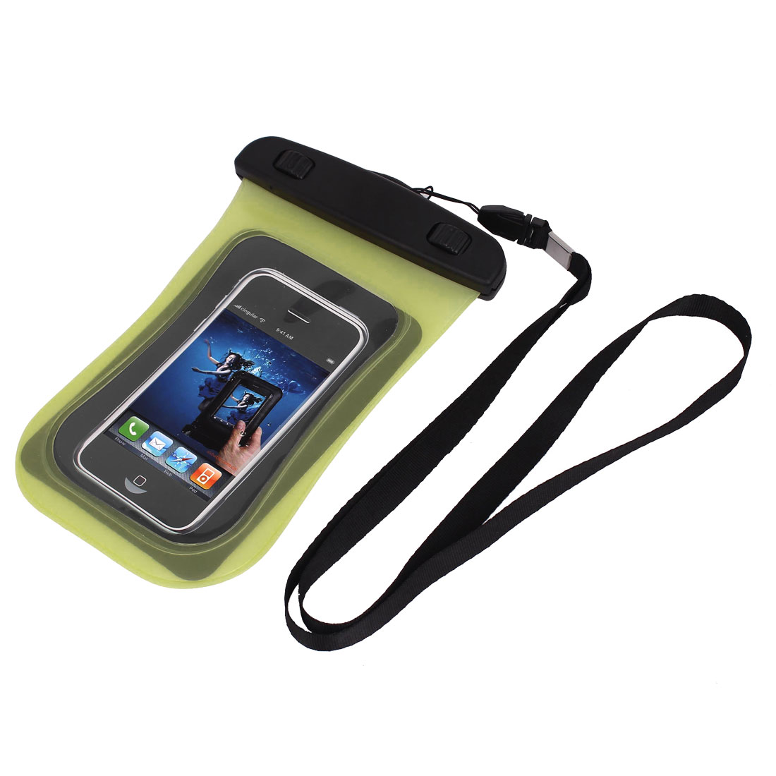 Universal Waterproof Case Dry Bag Protective Cover Pouch Yellow for Cell Phone