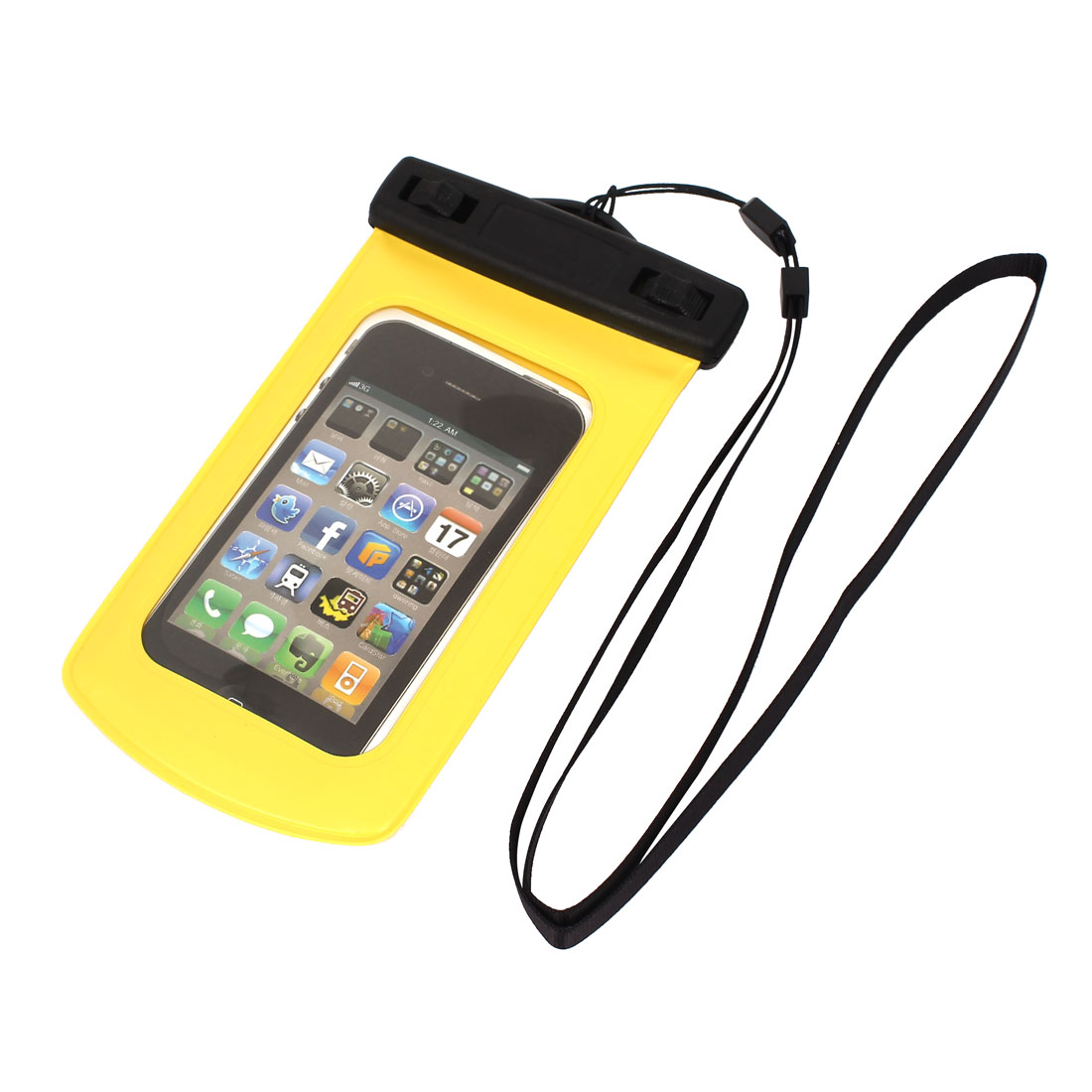 """Underwater Waterproof Dry Bag Cover Pouch Case Yellow for 4"""" Cell Phone"""