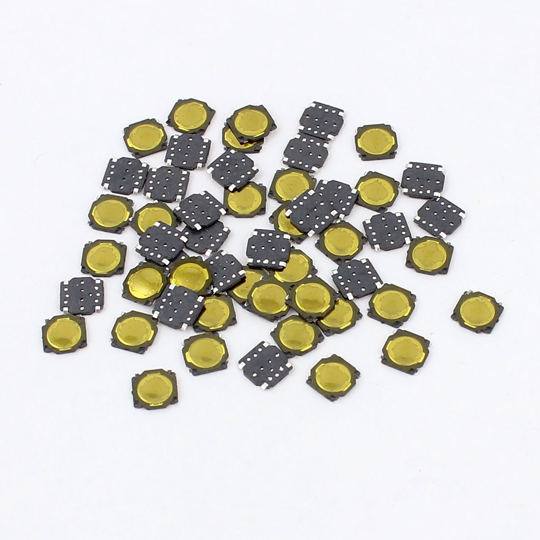 50 Pcs Square Momentary SMD Push Button Tact Tactile Switch 3.7x3.7mm