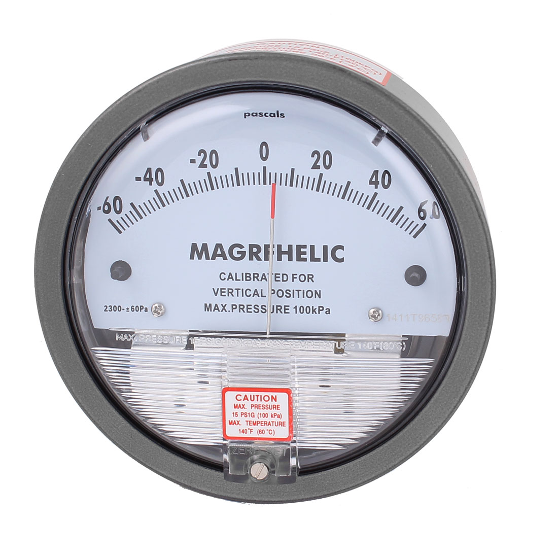 Series 2300 -60 to +60Pa 100KPa Differential Pressure Gage Gauge