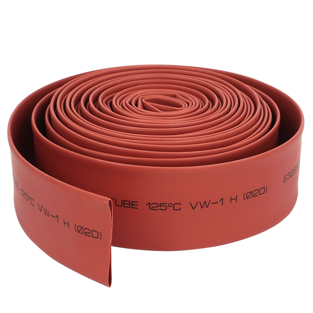 20mm Polyolefin 2:1 Heat Shrink Tubing Cable Sleeve 18 Ft Red