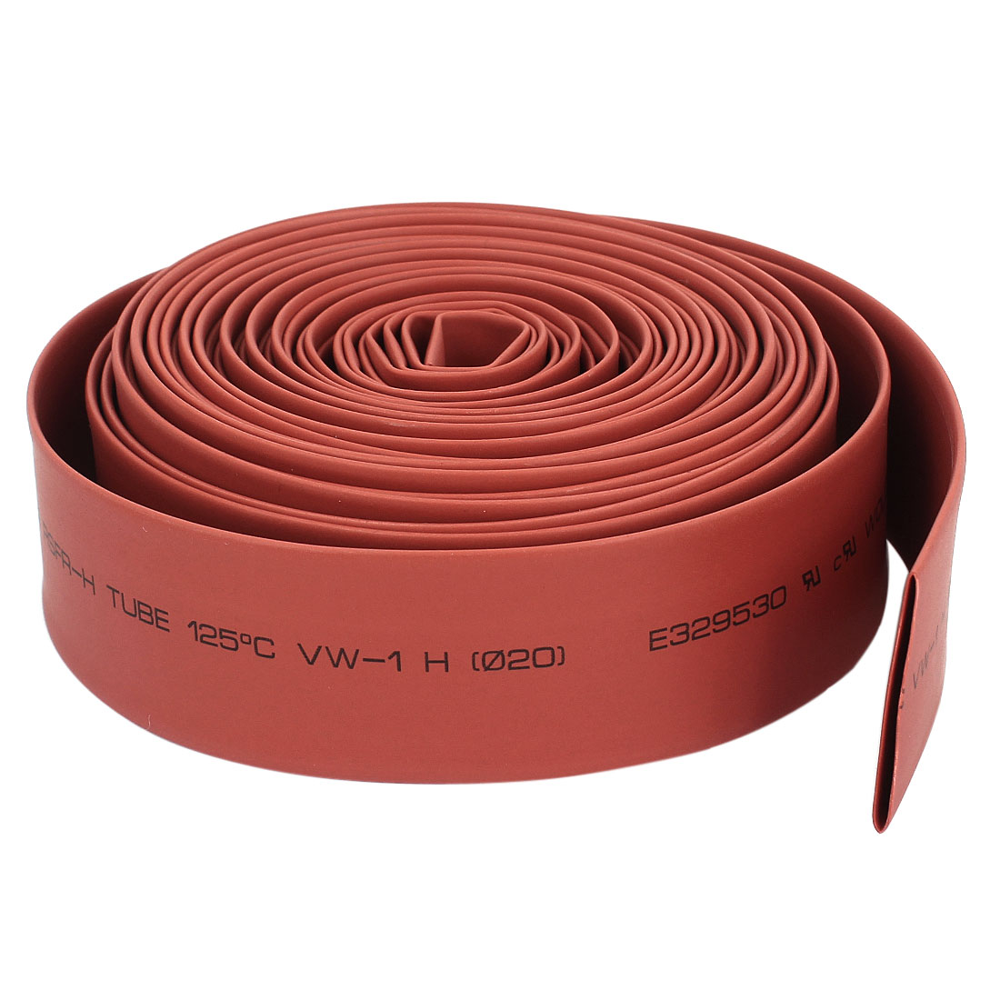 20mm Polyolefin 2:1 Heat Shrink Tubing Cable Sleeve 6.5M 21 Ft Red