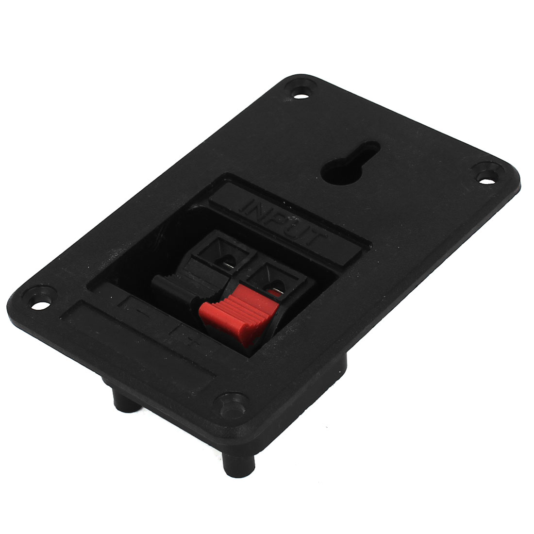 Red Black 2 Position Speaker Box Connector Terminal Binding Post Spring Clip