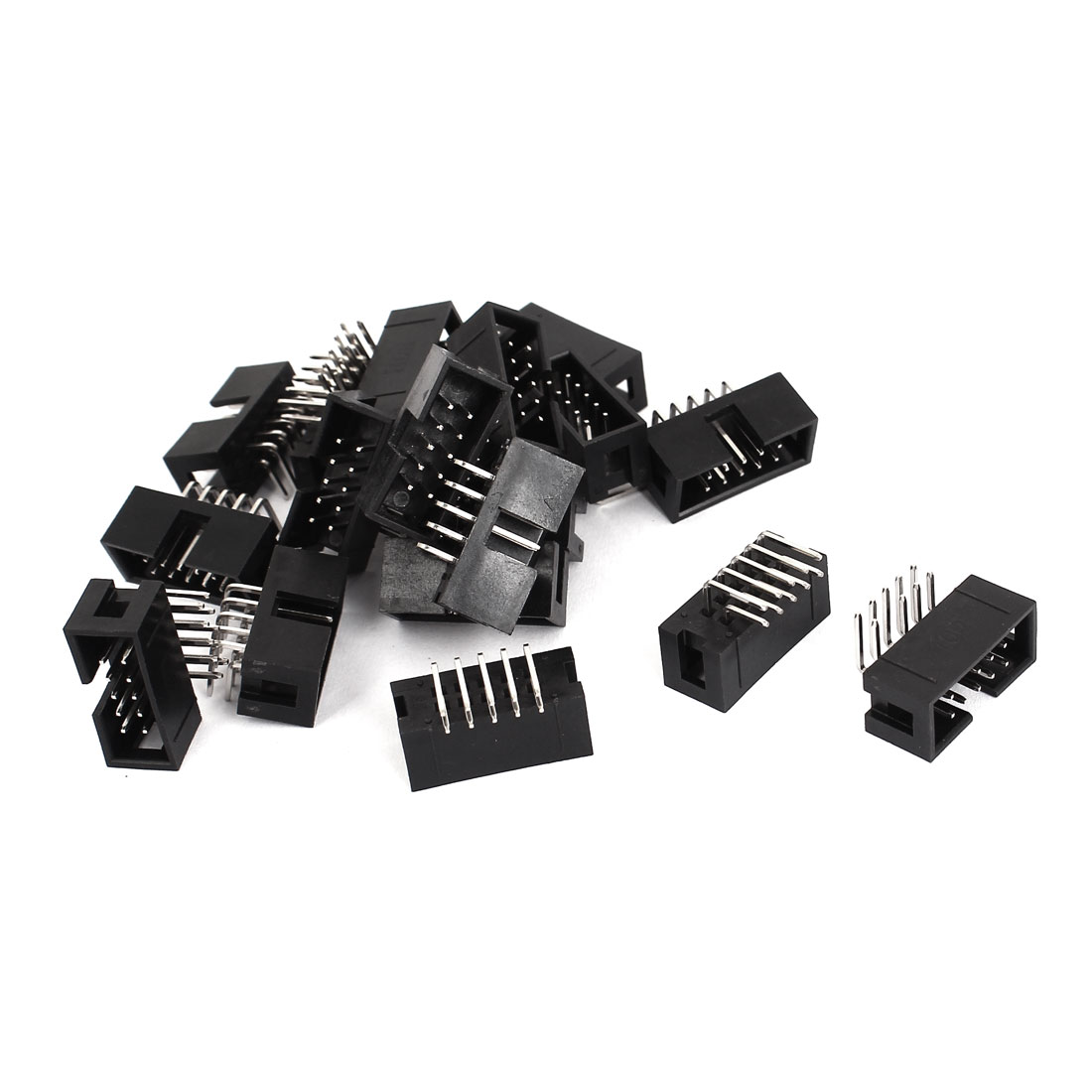 18 Pcs Right Angle 10pins 2.54mm Pitch IDC Box Pin Headers Connectors