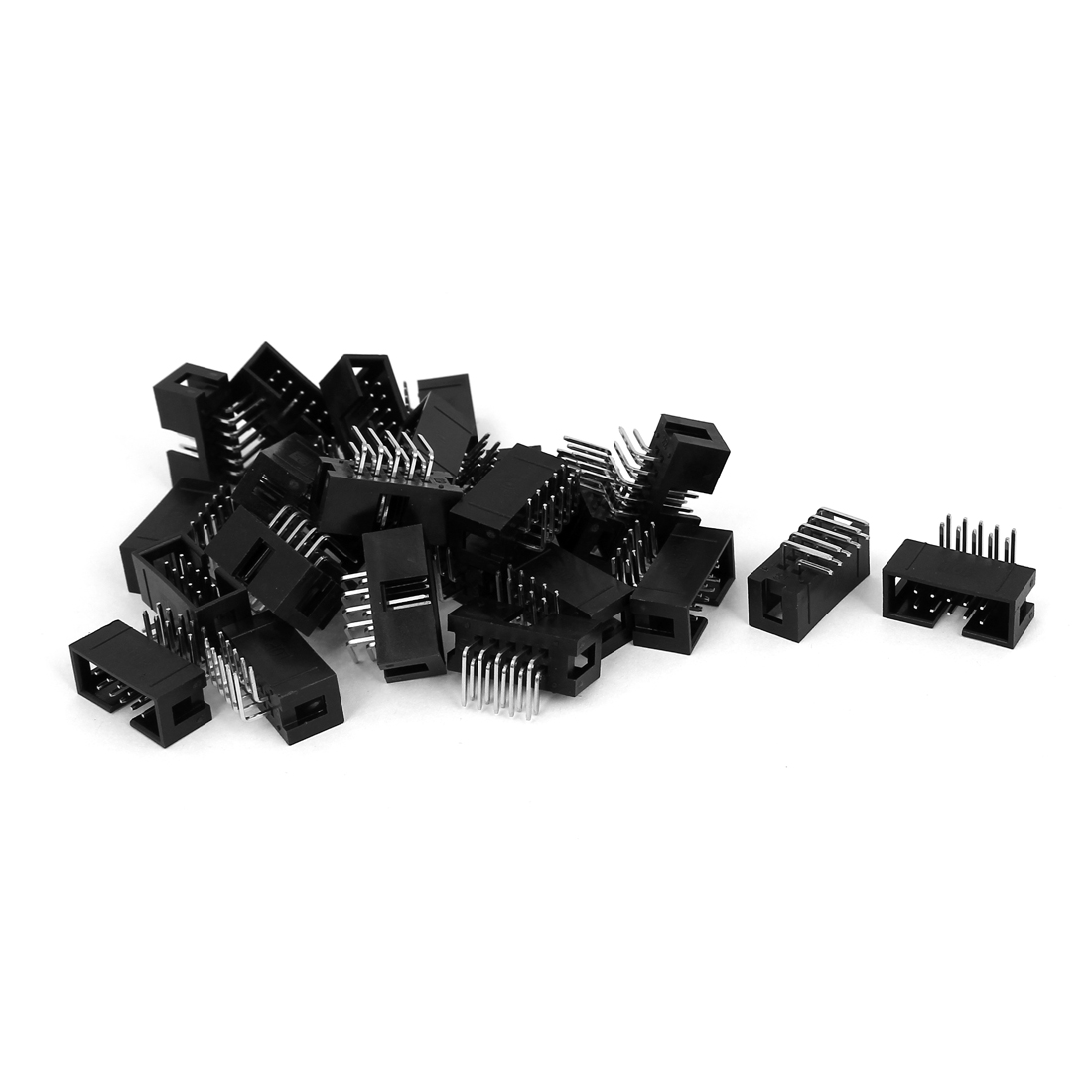 26 Pcs Right Angle 2x5pins 2.54mm Pitch IDC Box Pin Headers Connectors