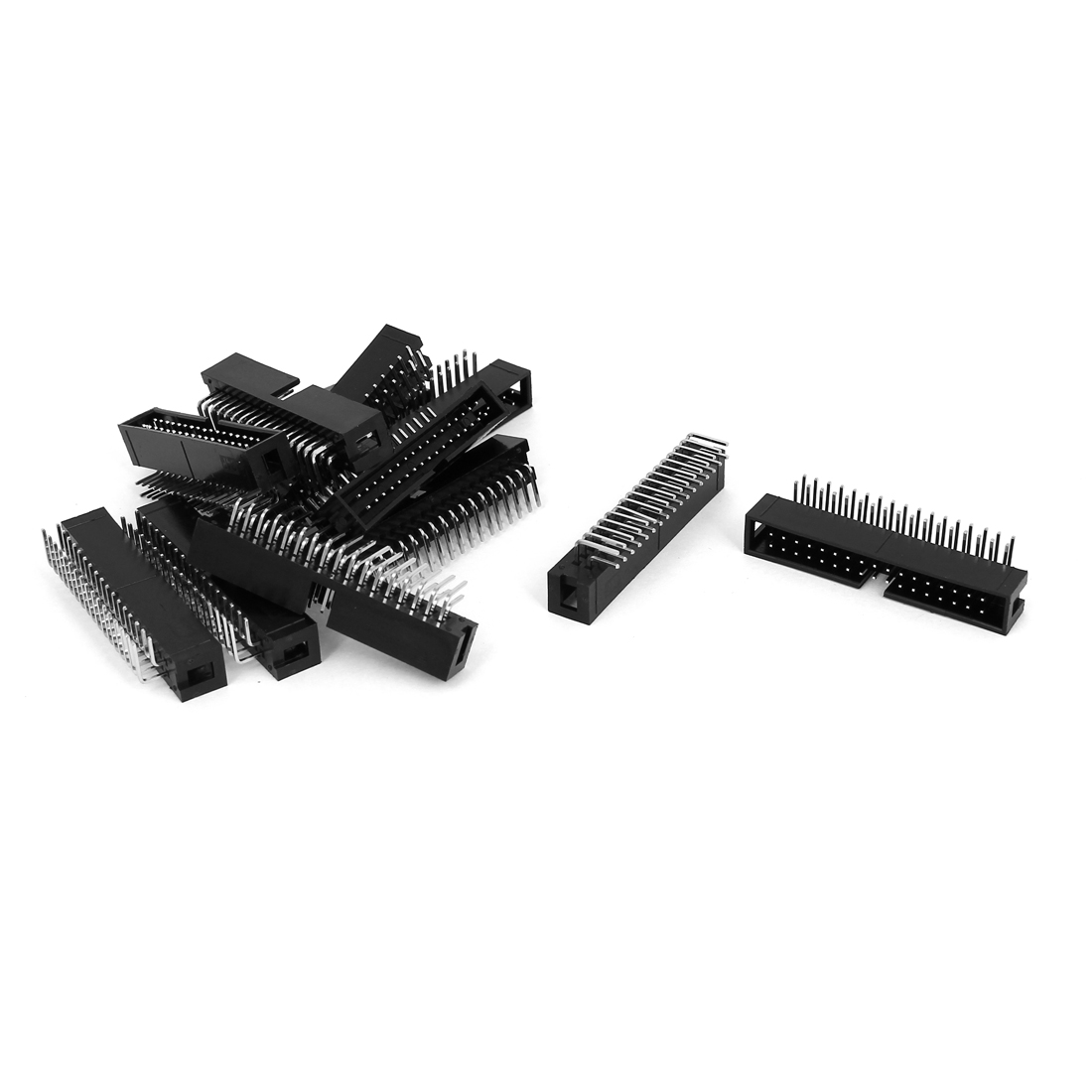 12 Pcs Right Angle 34pins 2.54mm Pitch Double Row IDC Box Pin Headers Connectors