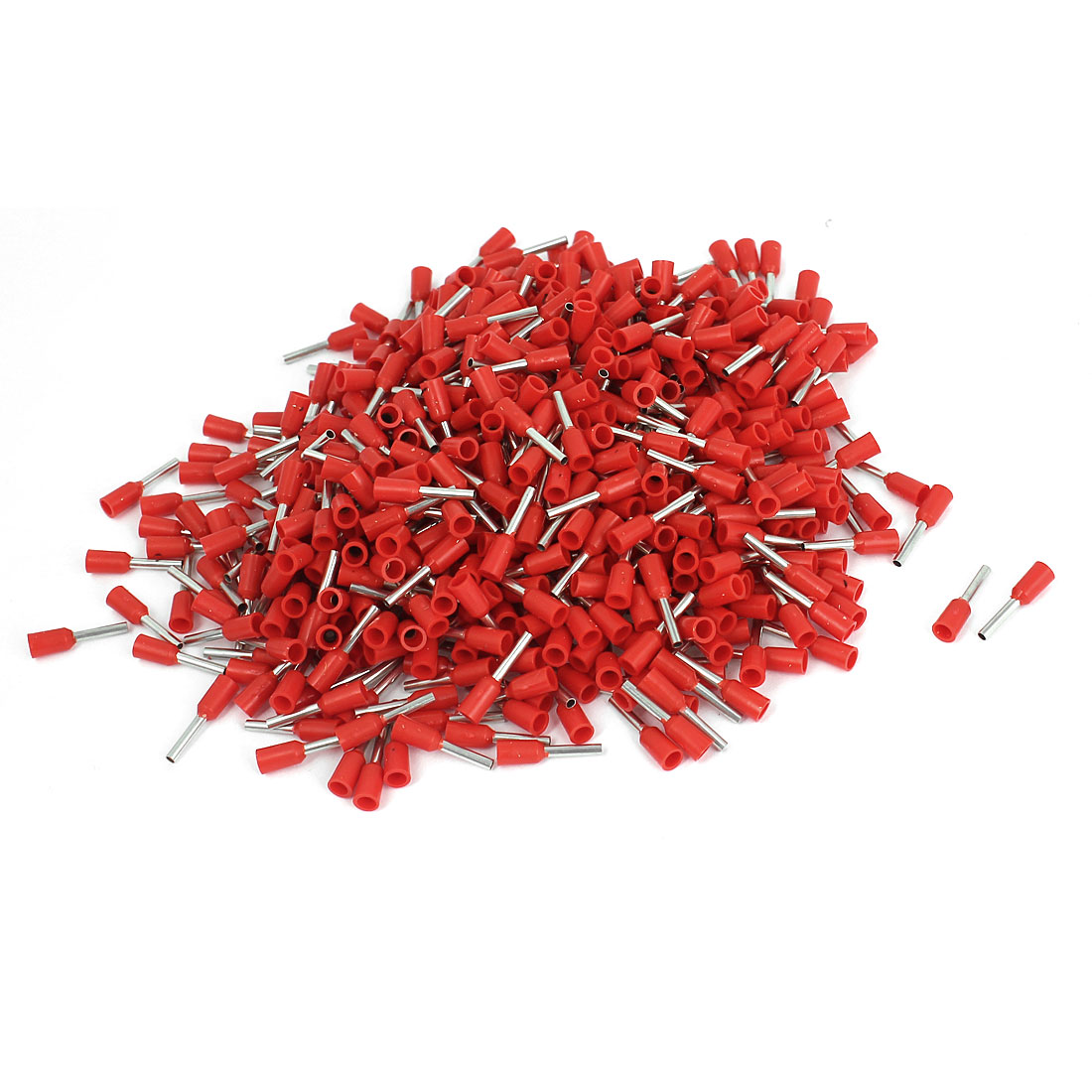 640 Pcs E7508 20AWG Tube Type Insulated Cable End Terminal Red
