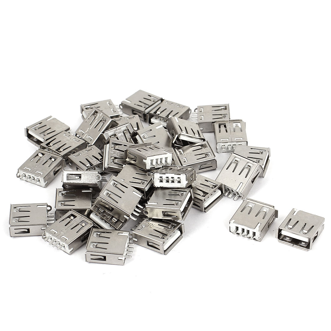 36pcs DIY USB 2.0 Type A Solder 4 Pin Female Jack Connector Socket Adapter