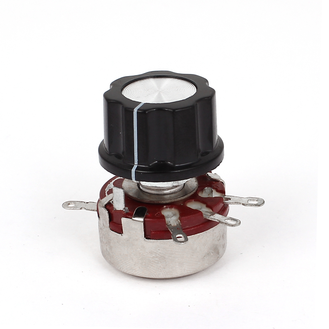 WTH118-1A 2W 4K7 Ohm Rotary Taper Carbon Film Potentiometer Pots w Control Knob