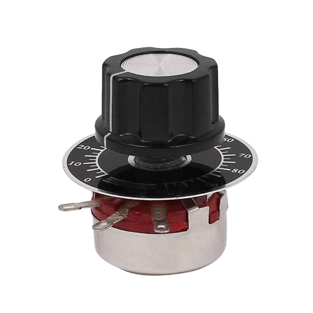 WTH118-1A 2W 4K7 Ohm Rotary Taper Carbon Film Potentiometer Pots w Dial w Knob
