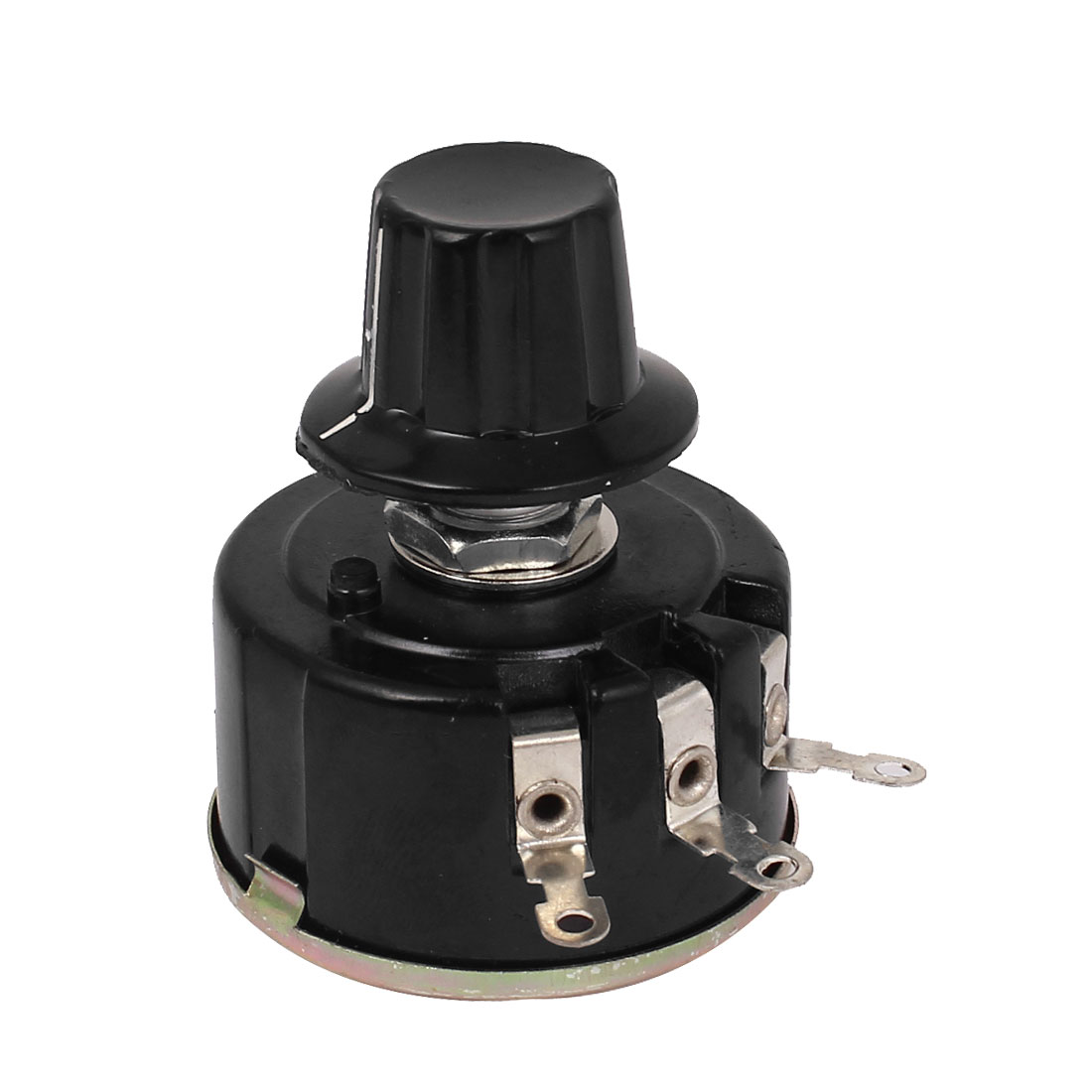 WX112(050) 5W 4K7 Ohm Single Turn 3 Terminals Wire Wound Potentiometer w Knob