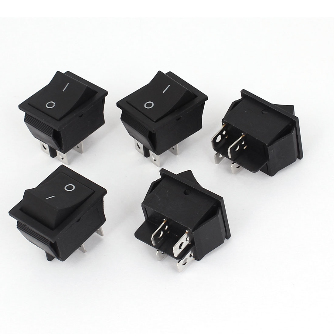 AC 250V/125V 16A/20A 4 Pins ON/OFF KCD4 Snap in Button Boat Rocker Switch 5Pcs