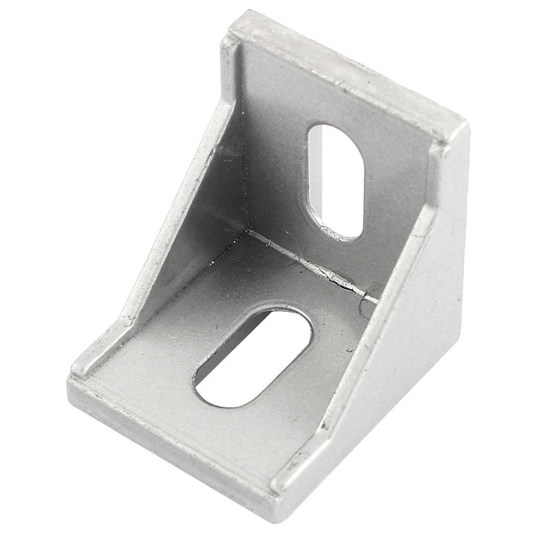 Silver Tone 40mmx40mm 2 Holes Right Angled Shelf Corner Brace Angle Bracket