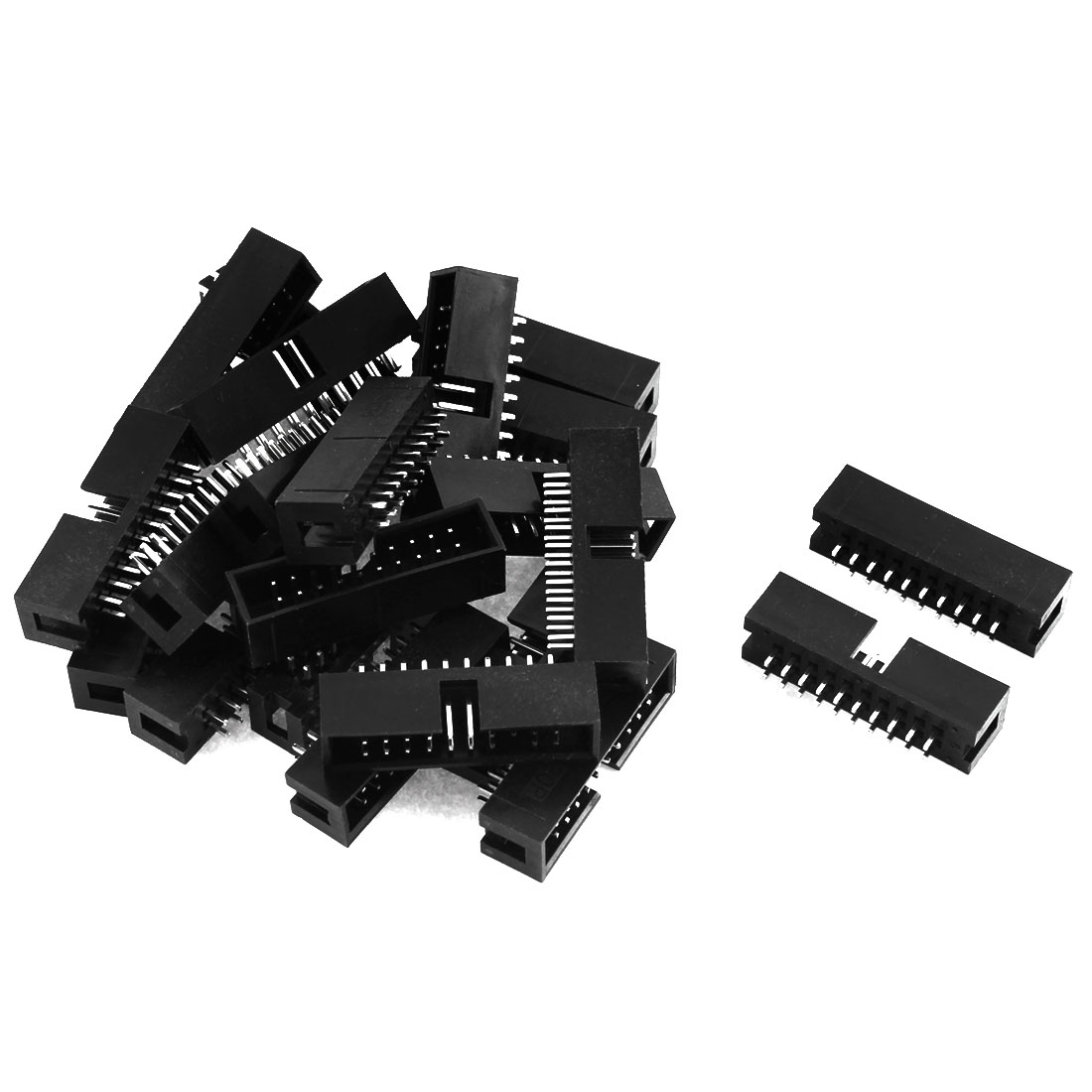 22pcs 2x10 20-Pin 2.54mm Pitch Straight Box Header Connector IDC Male Sockets