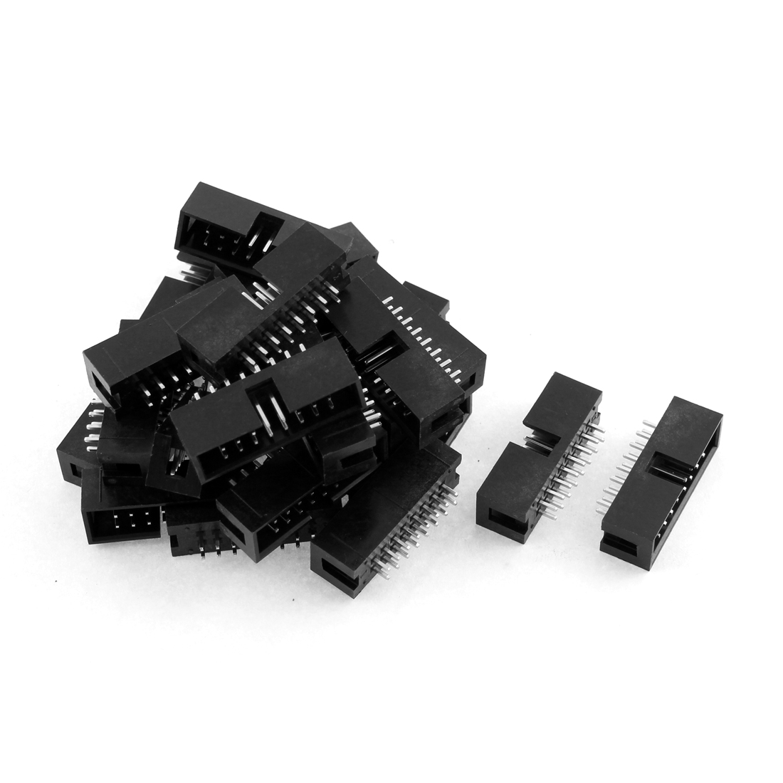 24pcs 2x8 16-Pin 2.54mm Pitch Straight Box Header Connector IDC Male Sockets