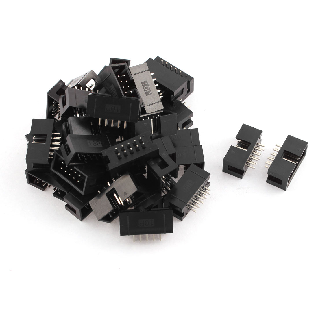 36pcs 2x5 10-Pin Straight Box Header Connector IDC Male Sockets 2.54mm