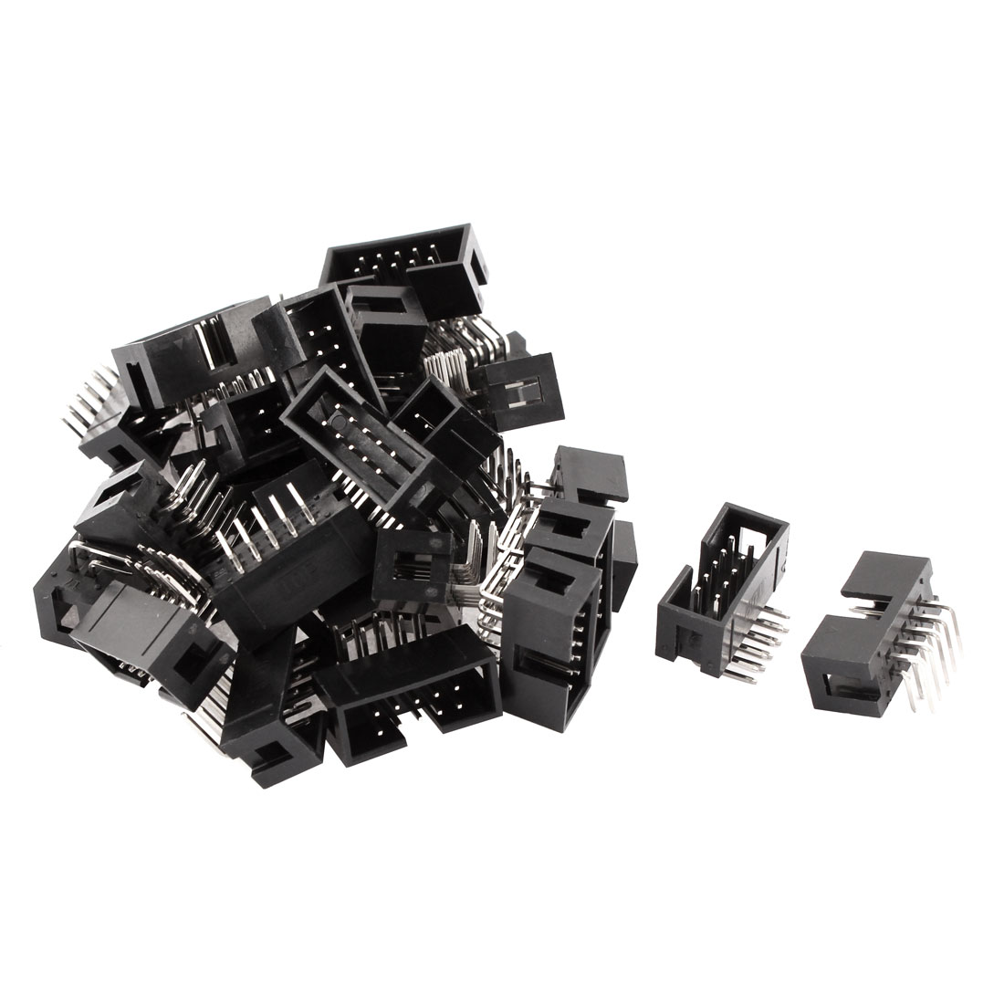 28pcs 2x5 10-Pin Right Angle Box Header Connector IDC Male Sockets 2.54mm