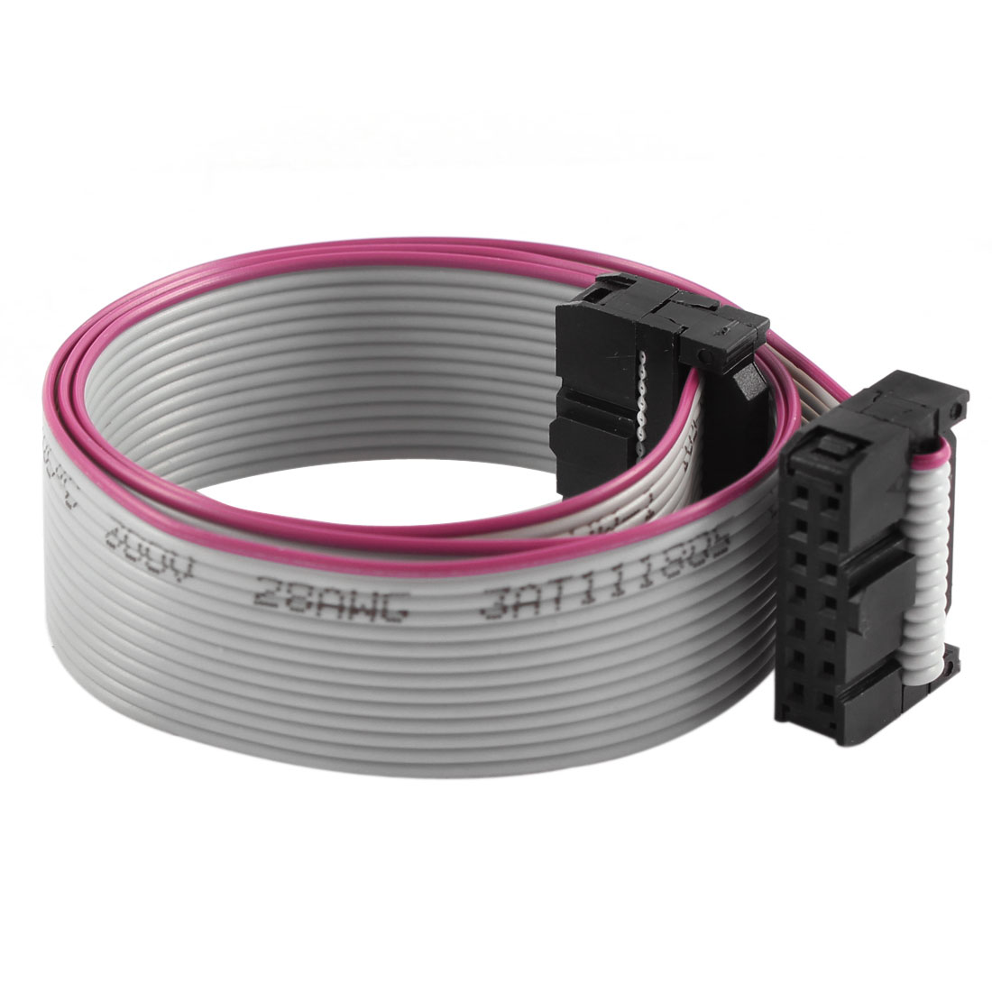2.54mm Pitch 2x14P 14 Pin 14 Wire Female to Female IDC Flat Ribbon Cable 48cm