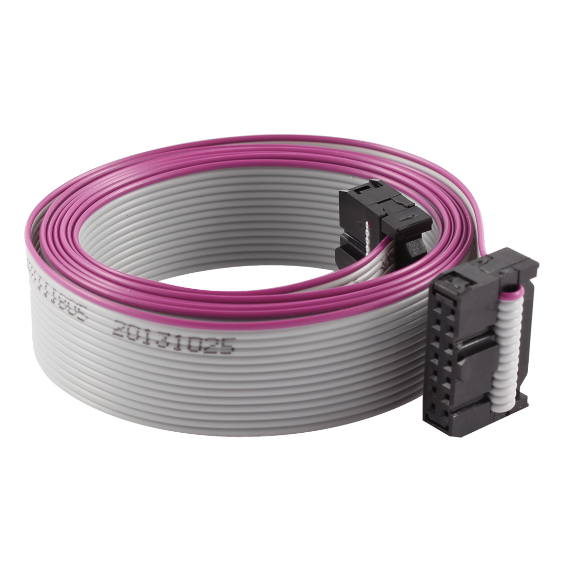 2.54mm Pitch 2x14P 14 Pin 14 Wire Female to Female IDC Flat Ribbon Cable 118cm