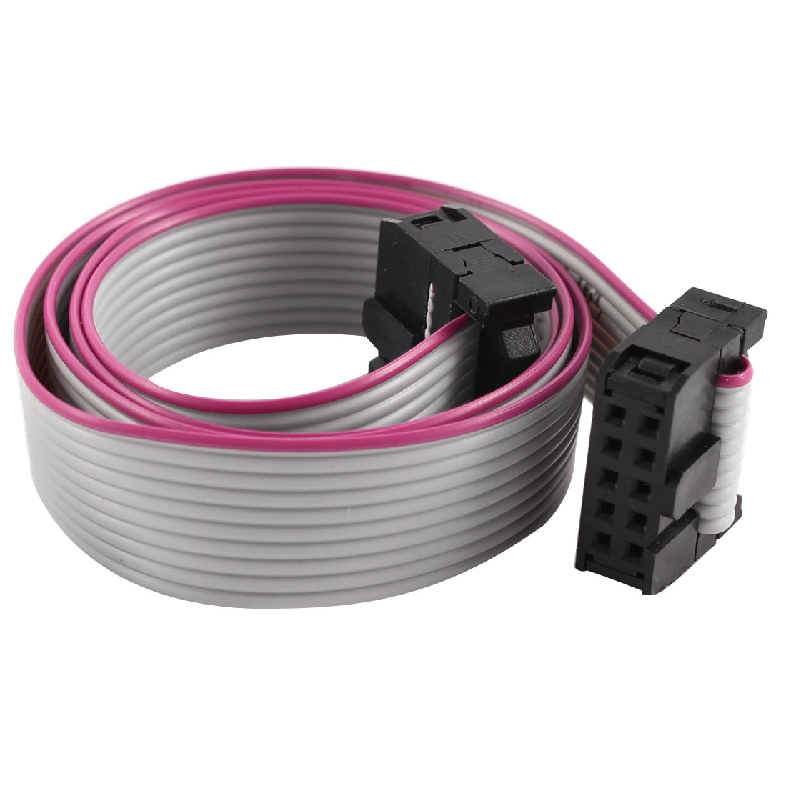 2.54mm Pitch 2x10P 10 Pin 10 Wire Female to Female IDC Flat Ribbon Cable 48cm