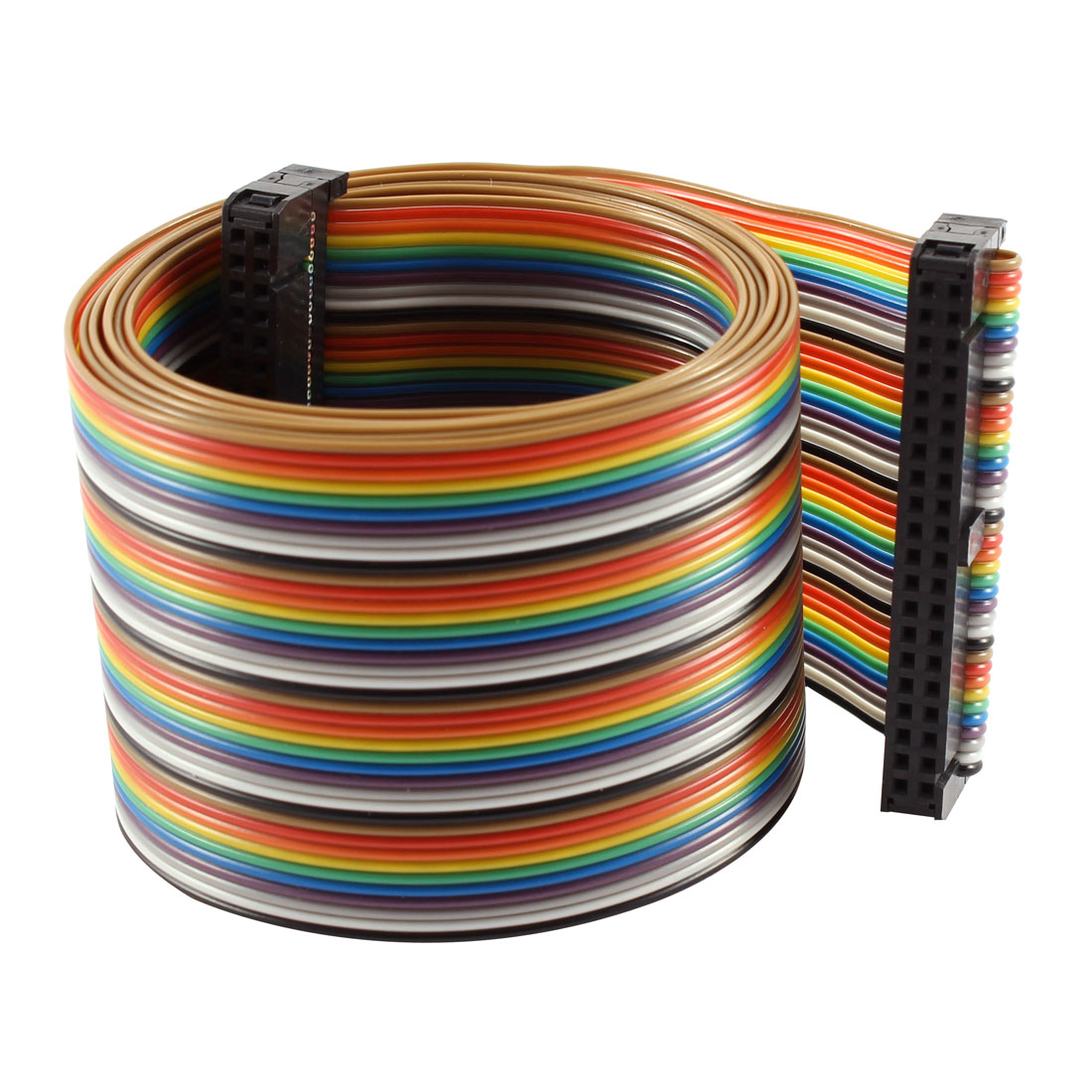 2.54mm Pitch 40 Pin 40 Way F/F Connector IDC Flat Rainbow Ribbon Cable 118cm