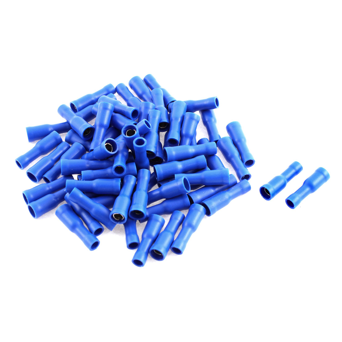 65pcs Blue Insulated Female Spade Crimp Terminal Connector for 16-14 AWG