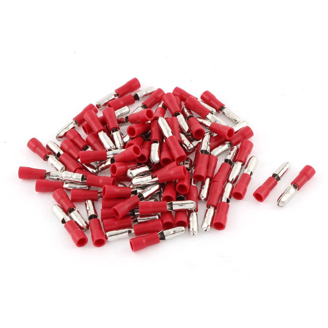 75Pcs 22-16 AWG Red Insulated Connector Male Crimp Terminals MPD1-156