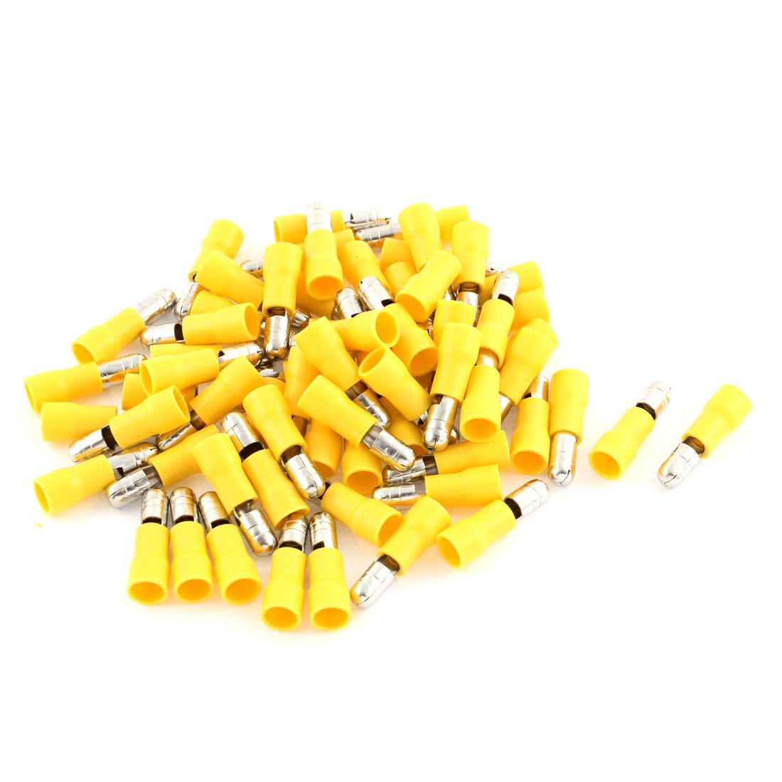65Pcs 12-10 AWG Yellow Insulated Connector Male Crimp Terminals MPD5-195