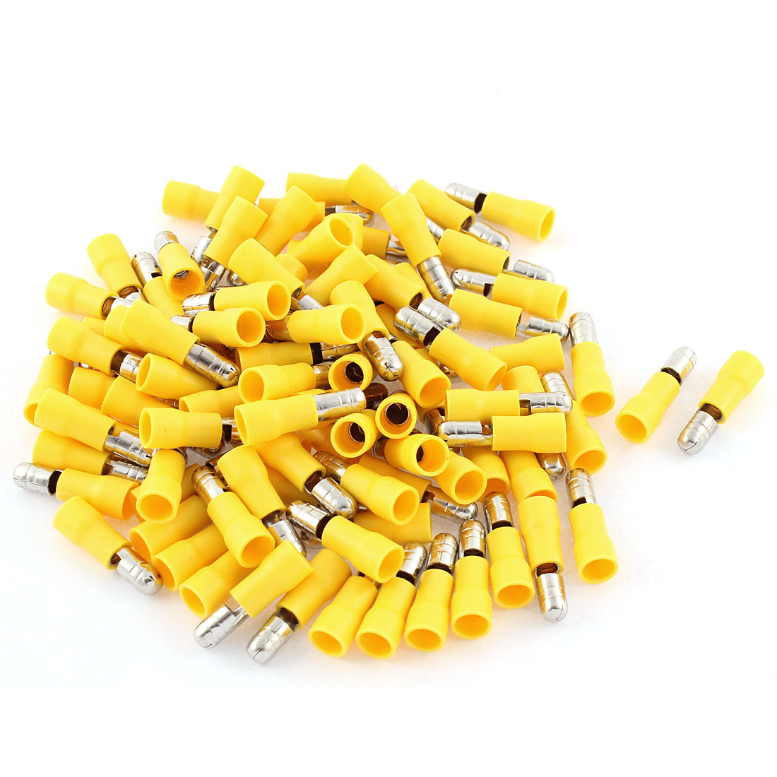 95Pcs 12-10 AWG Yellow Insulated Connector Male Crimp Terminals MPD5-195