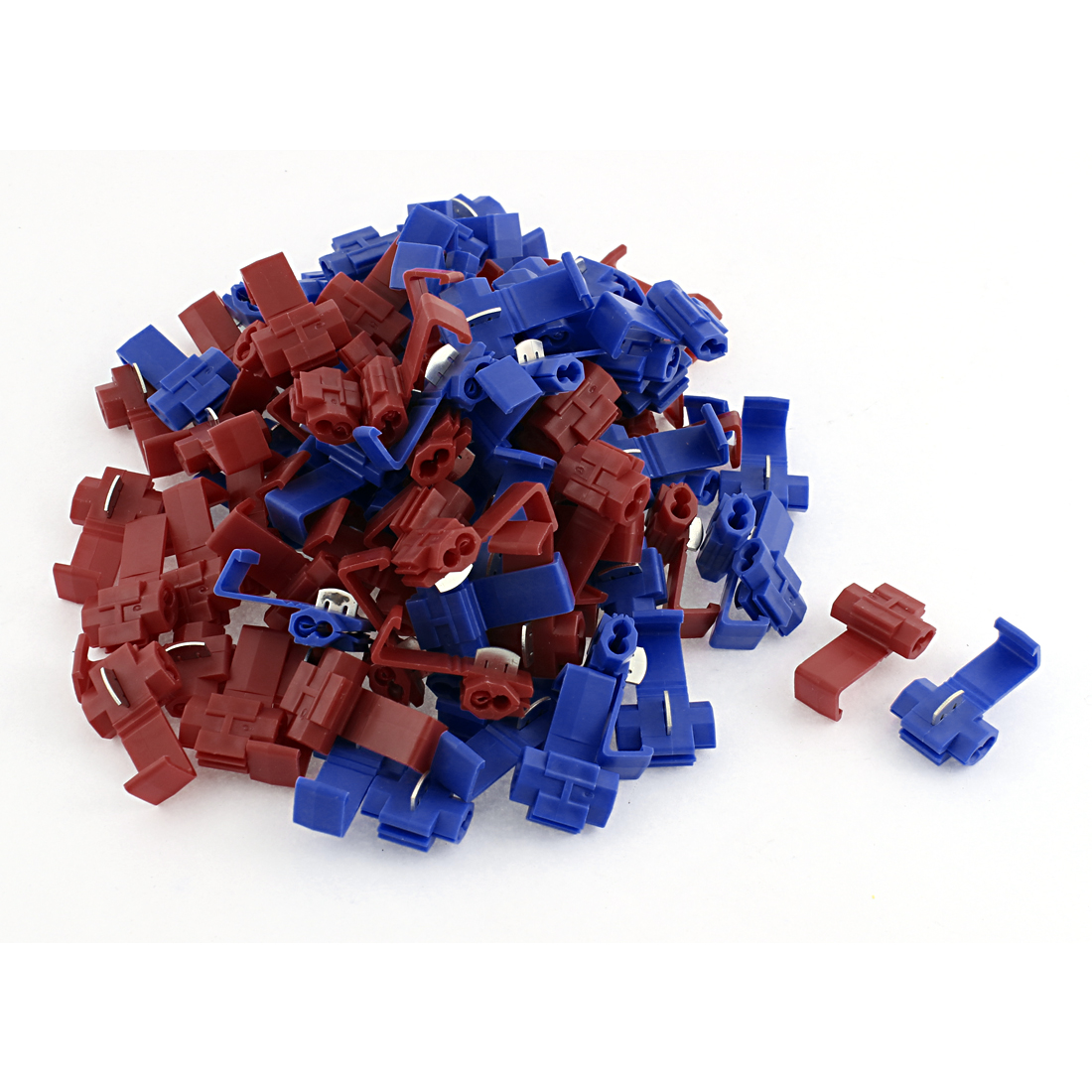 90pcs Car Red Blue Splitter Button Clip Wire Quick Connector for 2.5mm2 Cable