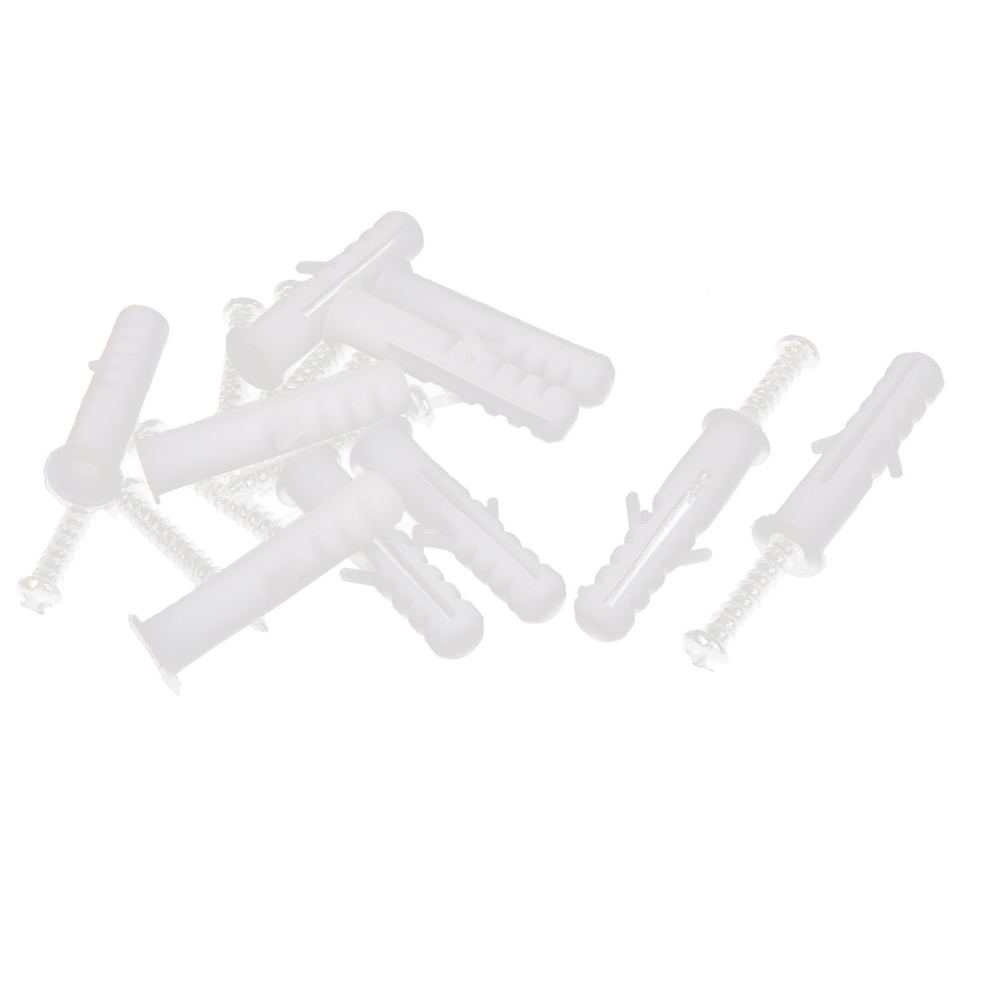 10pcs Plastic M12 Expansion Bolt Wall Screw Anchor w Self-tapping Screws