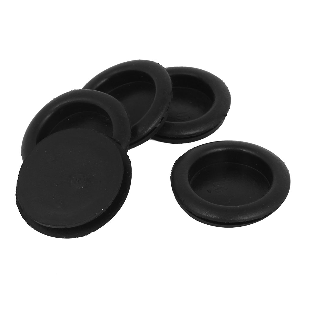5pcs Black Rubber Closed Blind Blanking Hole Wire Cable Gasket Grommets 40mm