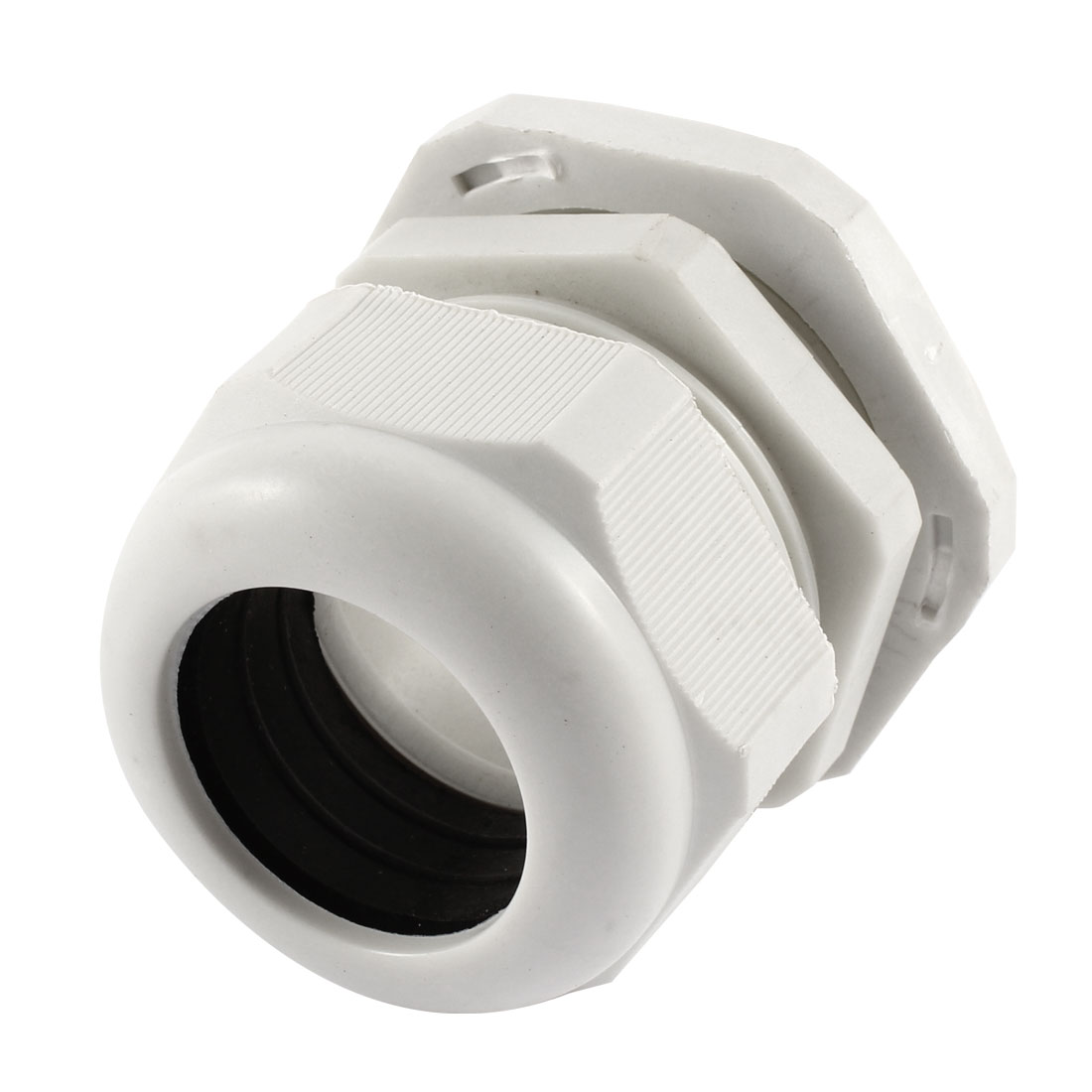 White Plastic PG36 22-32mm Wire Connector Waterproof Cable Gland