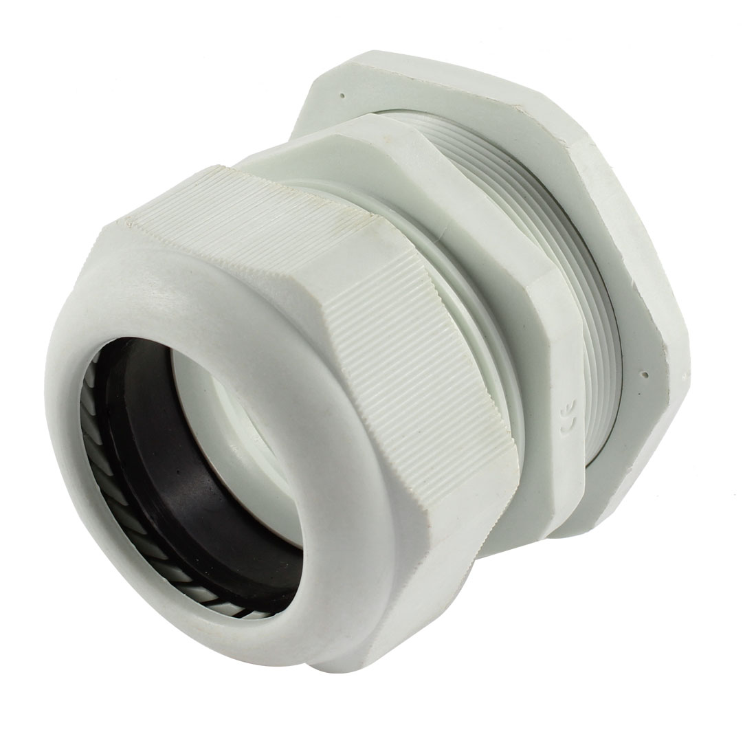 White Plastic M63x1.5 37-44mm Wire Connector Waterproof Cable Gland