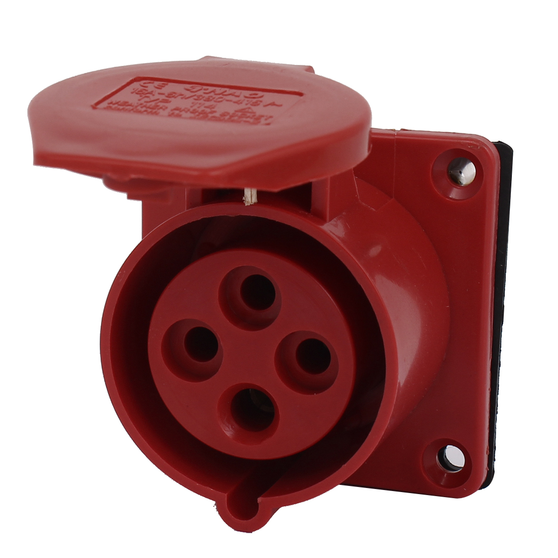 AC 380-415V 16A IEC309-2 IP44 3P+E Industrial Socket Waterproof Connector Red