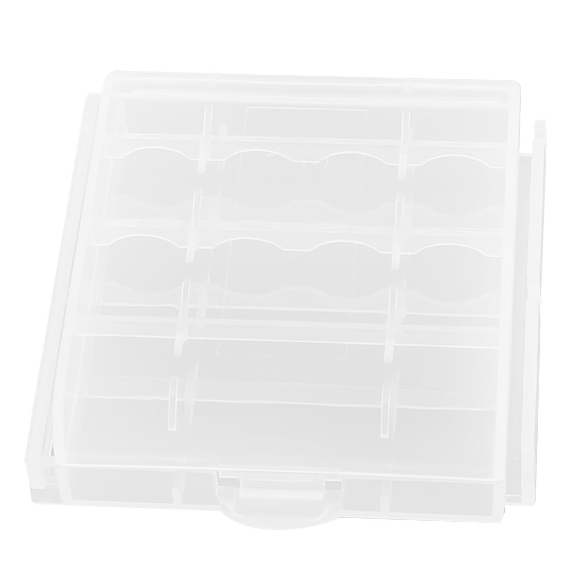 Hard Plastic Portable Case Holder Storage Box Clear for AA AAA Battery Batteries