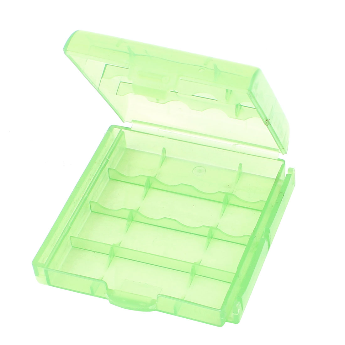 Plastic Portable Case Holder Storage Box Pale Green for AA AAA Battery Batteries