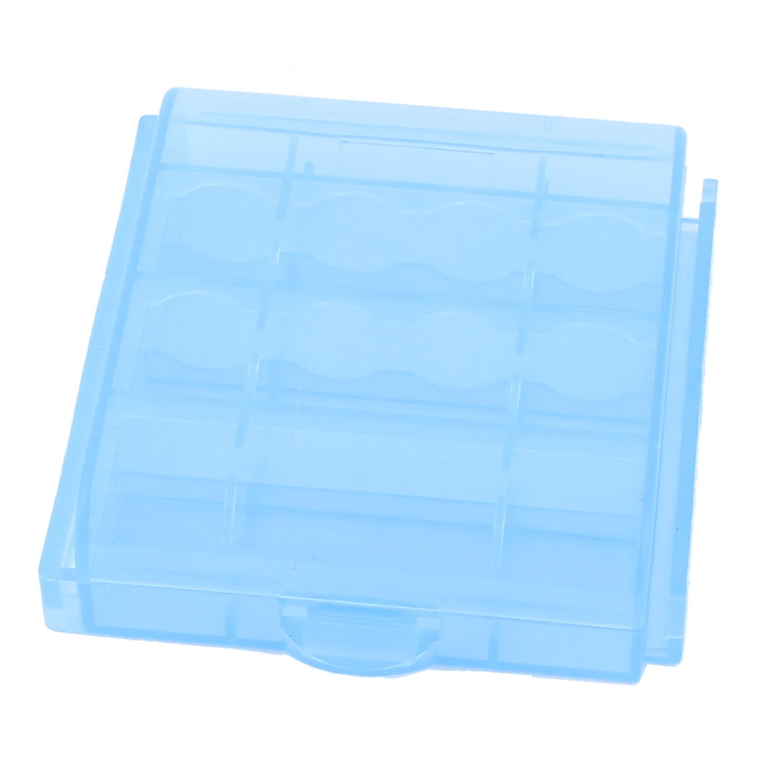 Hard Plastic Portable Case Holder Storage Box Blue for AA AAA Battery Batteries