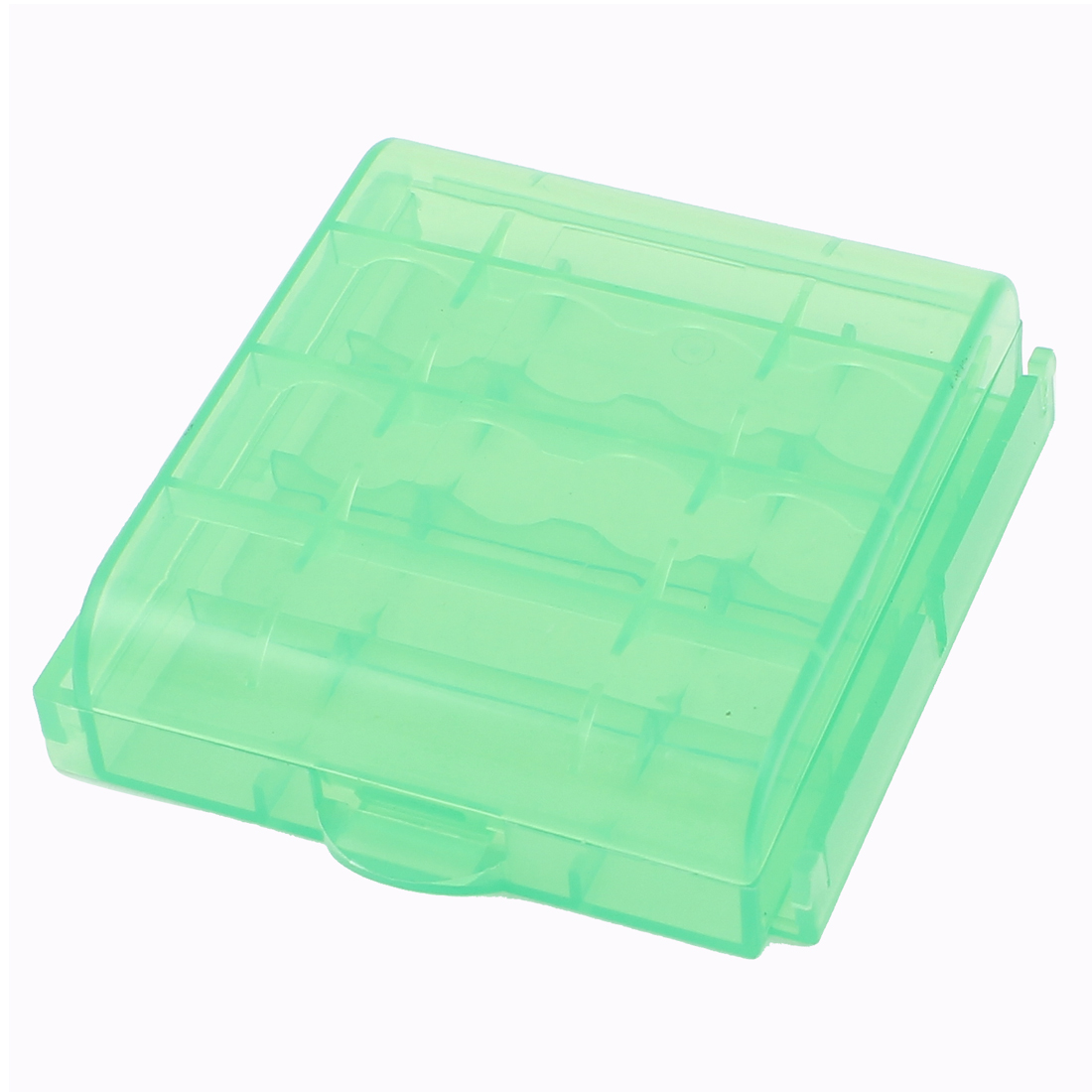 Plastic Portable Case Holder Storage Box Dark Green for AA AAA Battery Batteries
