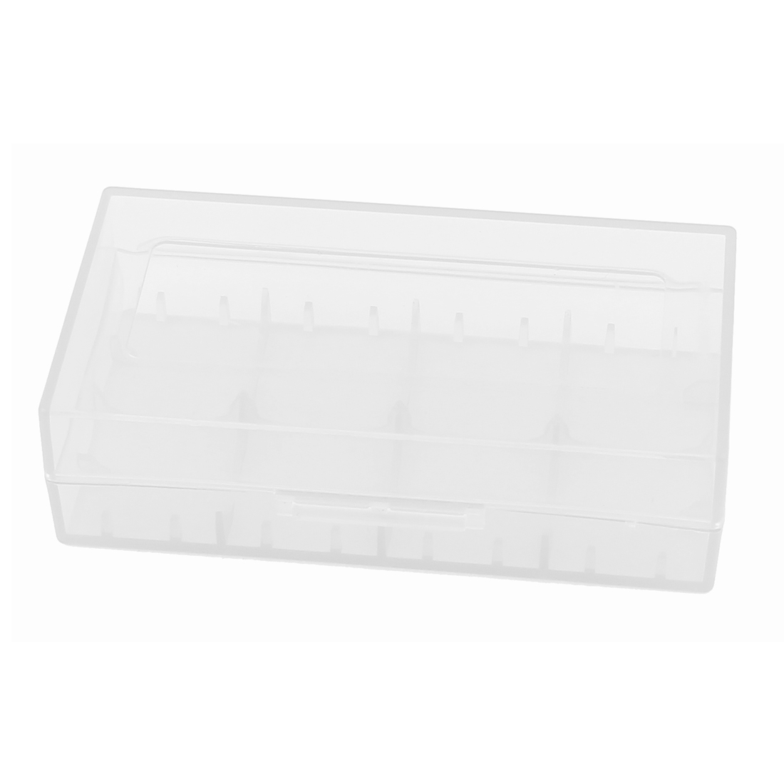 Hard Plastic Case Holder Storage Box White for 18650 16430 CR123A Battery