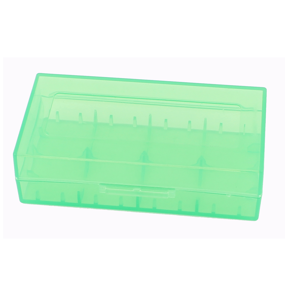 Hard Plastic Case Holder Storage Box Green for 18650 16430 CR123A Battery