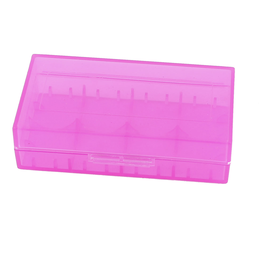 Hard Plastic Case Holder Storage Box Purple for 18650 16430 CR123A Battery