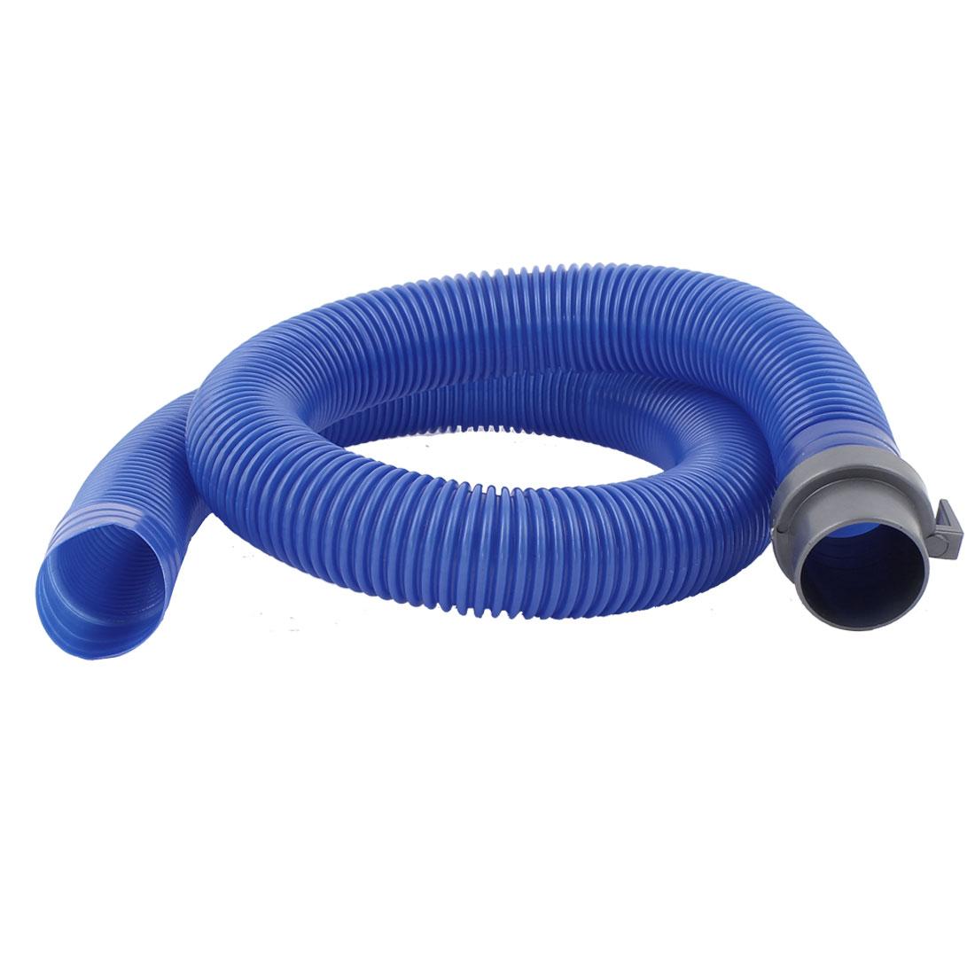 Washer Washing Machine Flexible Outlet Drain Hose Pipe 90cm Long Blue