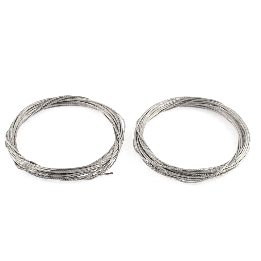 2 Pcs Laundry Clothes Washing Drying Steel Hanging Rope Line 7M 23Ft